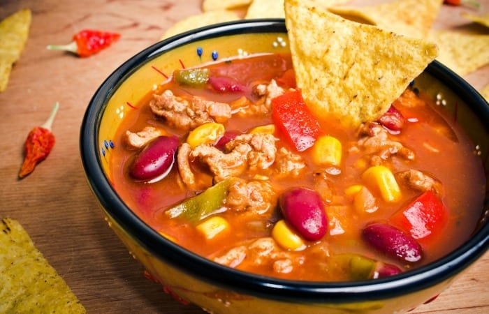 slow cooker crockpot taco soup is a fantastic and flavorful dinner