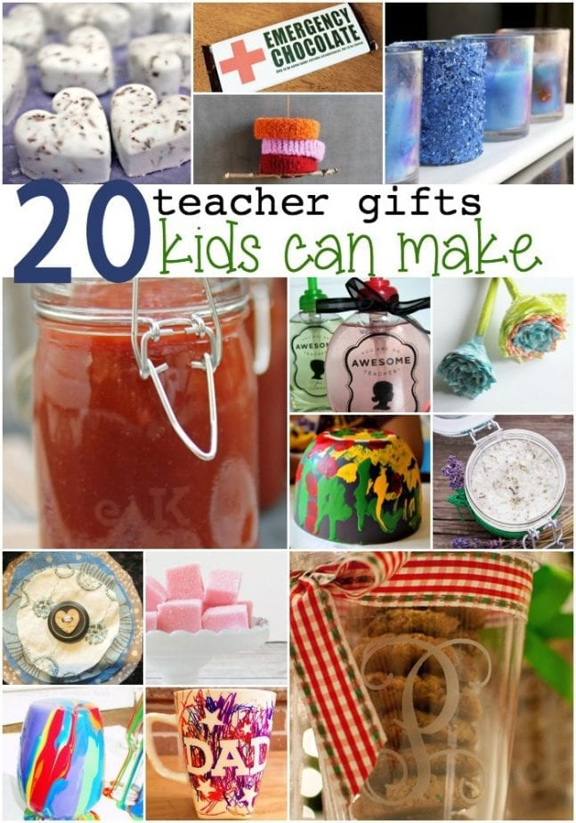 20 teacher gifts kids can make