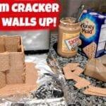 Graham Cracker Houses and Snowball Cookies Interim House