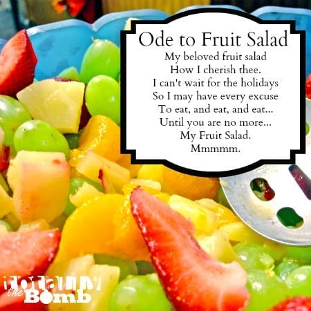 We love this fruit salad recipe so much that we wrote and ode to fruit salad