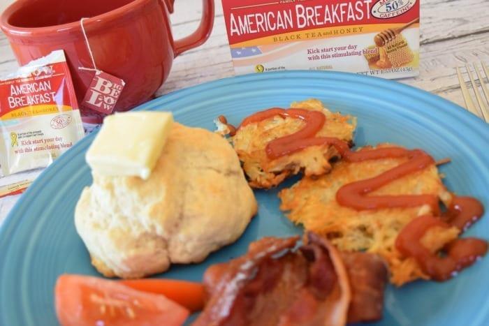 american breakfast with bigelow tea
