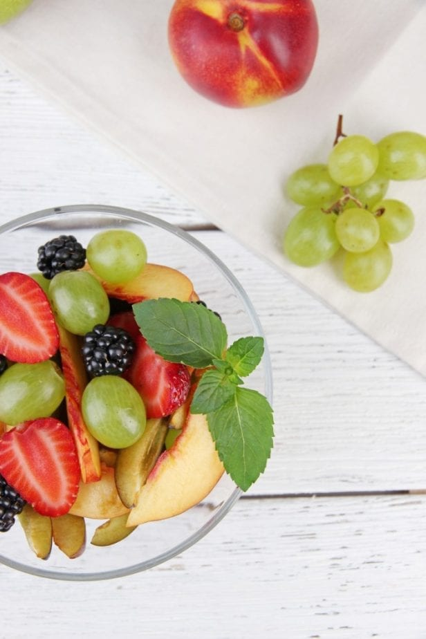 nothing is more refreshing than a sweet holiday fruit salad