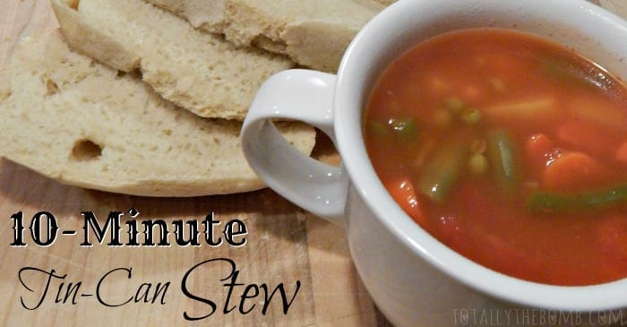 10-Minute Tin-Can Stew FB
