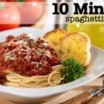 10-Minute {SUPER EASY} Spaghetti Sauce Recipe