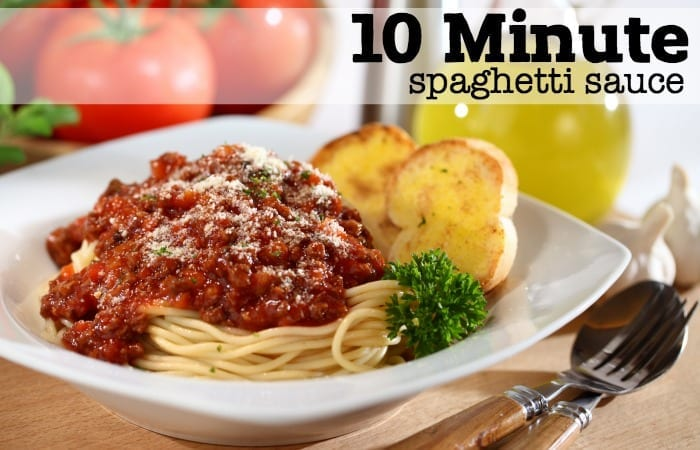 10-Minute {SUPER EASY} Spaghetti Sauce Recipe
