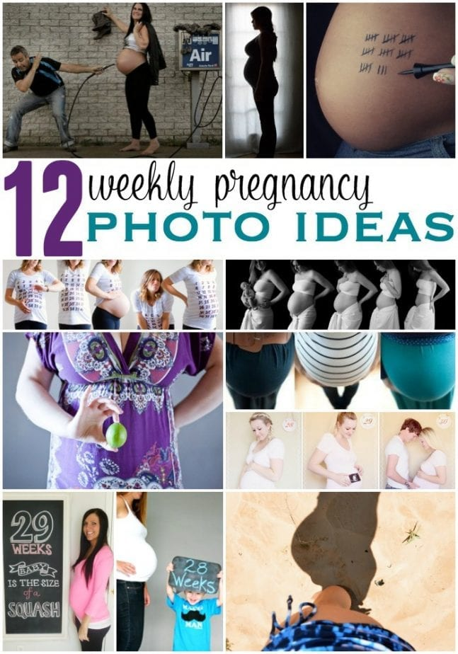 12 weekly pregnancy photo ideas