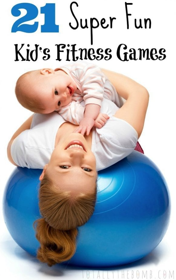 21 Super Fun Kid's Fitness Games Pin w txt