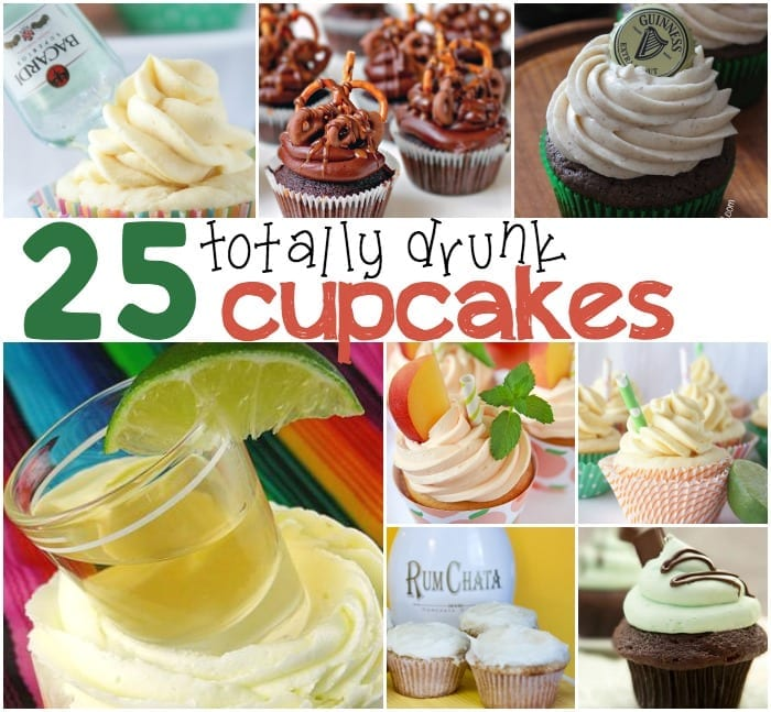 25 drunk cupcakes