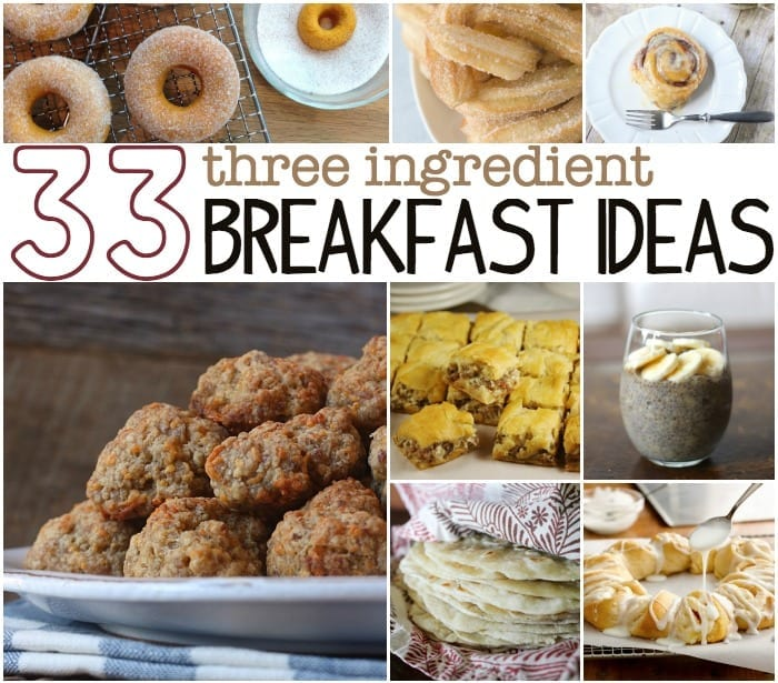 3 ingredient breakfasts
