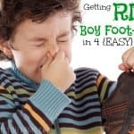 Get Rid of Boy Foot Odor in 4 {Easy} Steps