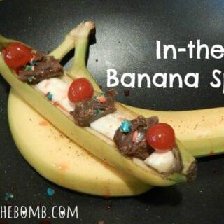 In-the-Peel Banana Split Holiday Recipe