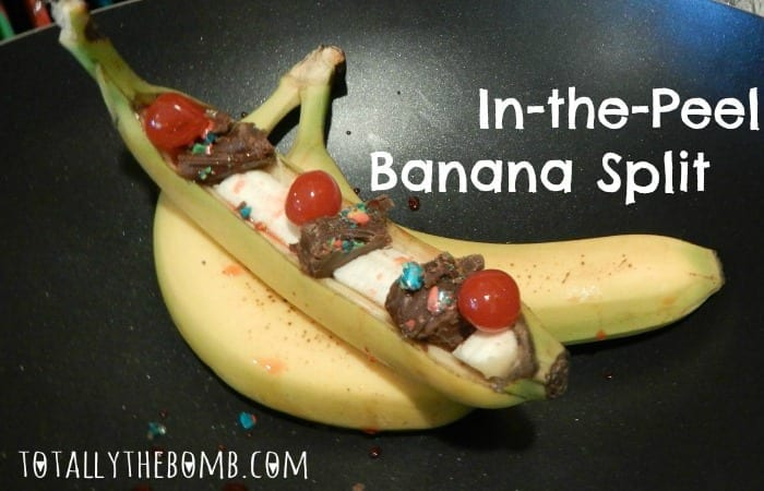In-the-Peel Banana Split Holiday Recipe