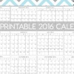 Free Printable 2016 Calendar – Make Your New Year's Resolutions a Reality