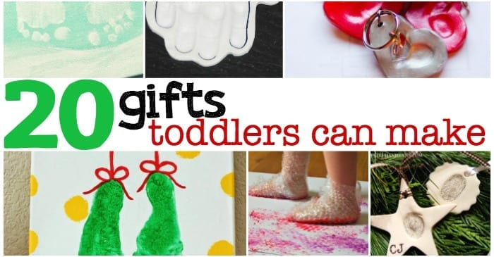 Christmas Gifts For Preschoolers To Make.20 Gifts Toddlers Can Make