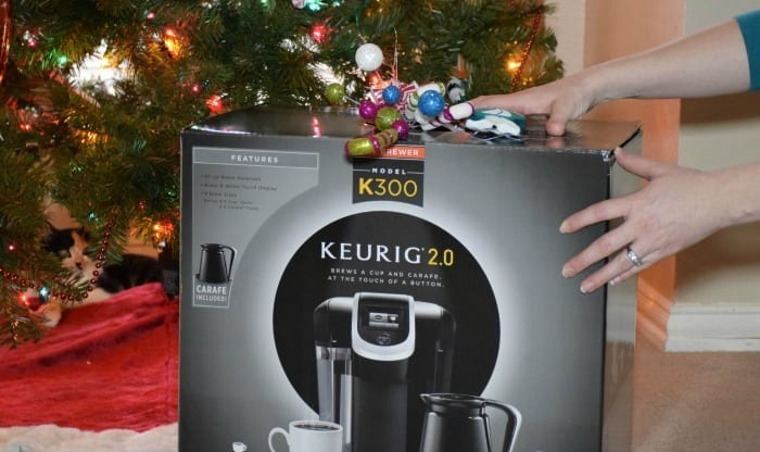 keurig with hands