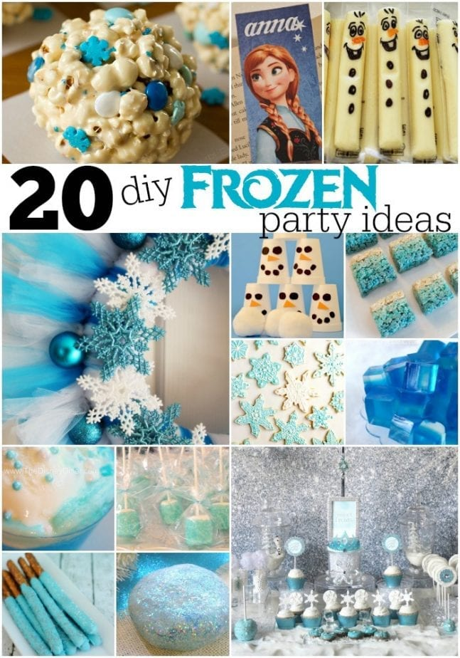 20 + DIY Frozen Party Ideas