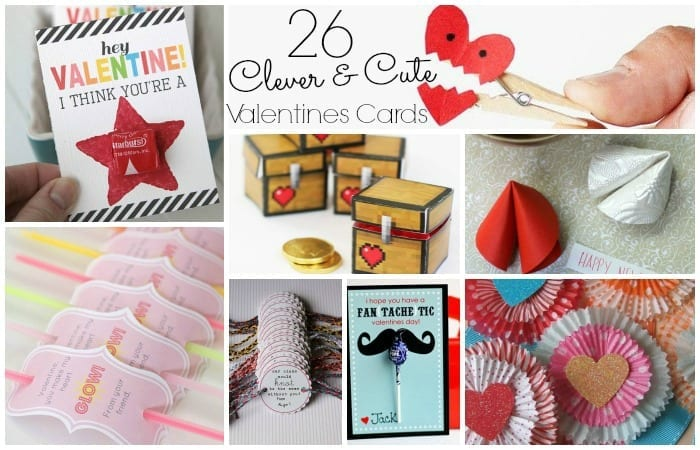 26 Clever Cute Valentine Card Sets Totally The Bomb – Valentines Card Ideas for Kids