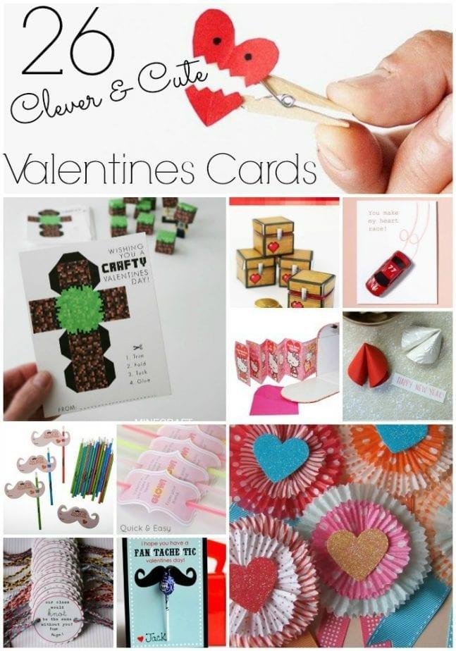 Crafty Cute Easy Valentines Cards pin w txt