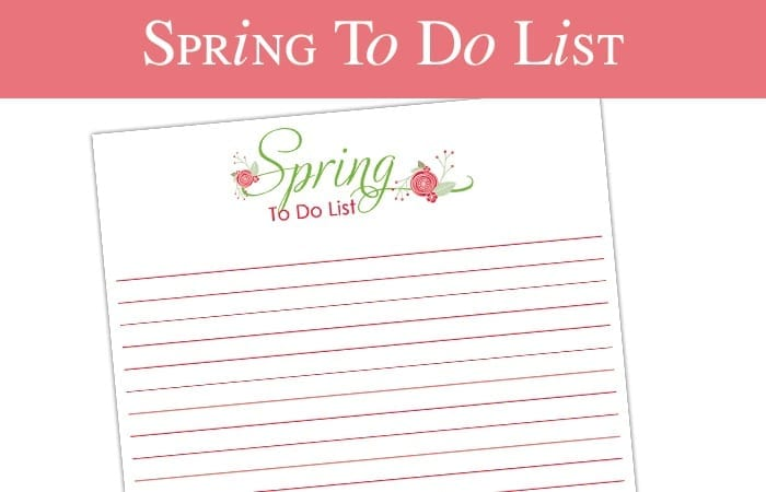 A Free Printable Spring To-Do List