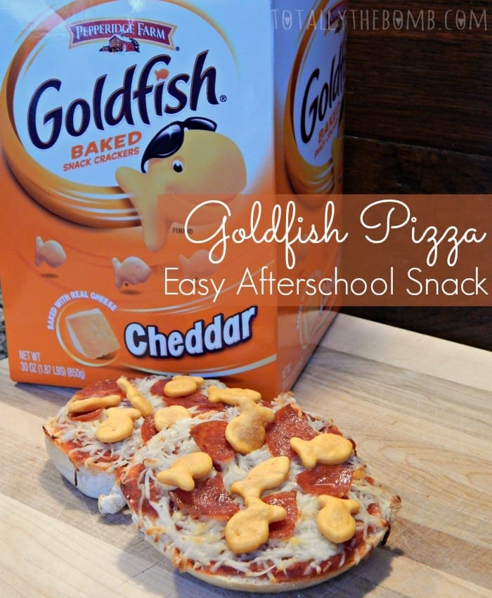 Goldfish Pizza Easy Afternoon Snack Pin