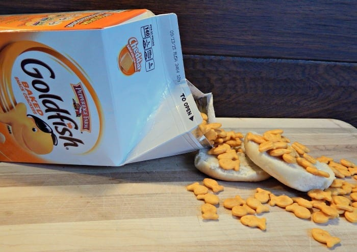 Goldfish Pizza Easy Afternoon Snack Spill