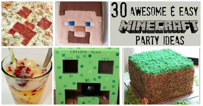 30 awesome easy minecraft party ideas. Black Bedroom Furniture Sets. Home Design Ideas