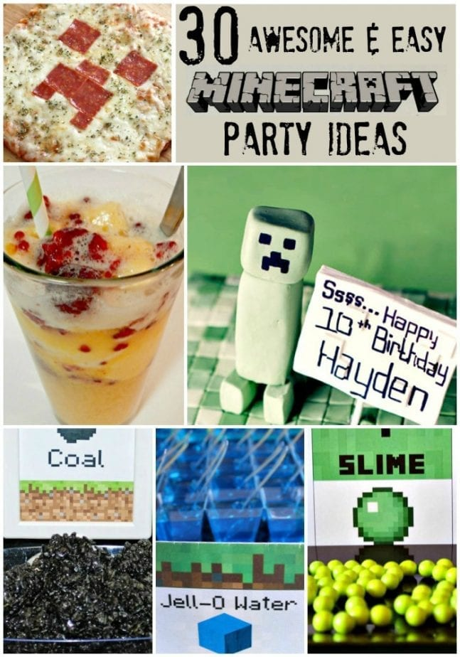 Minecraft Party Ideas Easy Cool Pin w txt