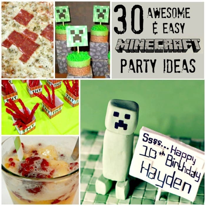 Minecraft Party Ideas Easy Cool Sq w txt