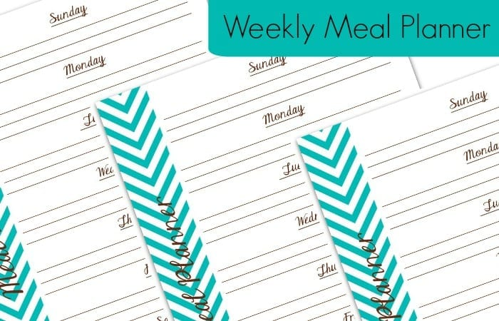 Free Printable Weekly Meal Planner - Totally The Bomb.Com