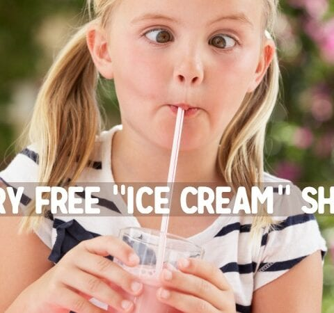 allergy friendly ice cream shake smoothie