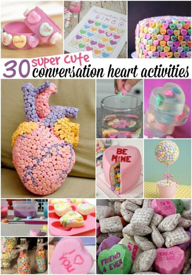 conversation heart activities