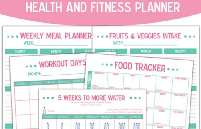 image about Fitness Planner Printable known as No cost Printable Fitness and Physical fitness Planner