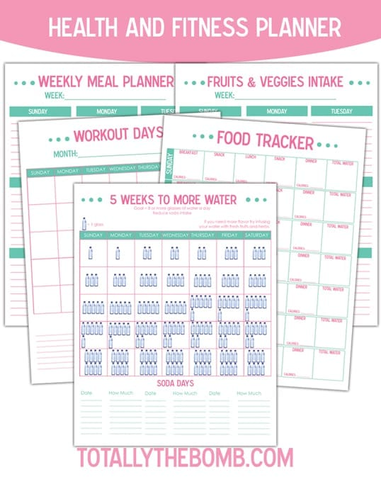 Free Printable Health And Fitness Planner  Totally The BombCom