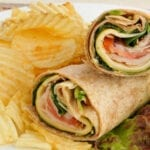 Easy Hummus Turkey Wraps