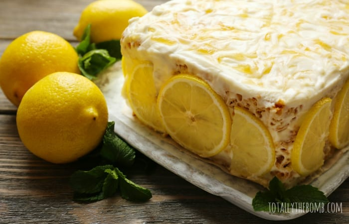 This Lemon Poke Cake is sweet and tart, a perfect summer dessert