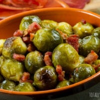 Roasted Honey and Tabasco Bacon Brussels Sprouts