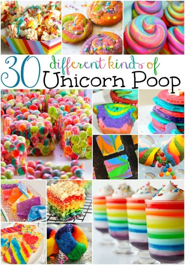 different kinds of unicorn poop