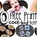 20 Free Printable Cool-Kid Temporary Tattoos