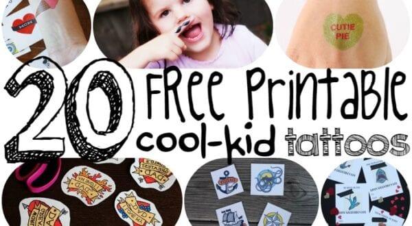 20 free printable cool-kid tattoos