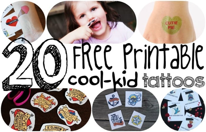 graphic about Printable Temporary Tattoos named 20 No cost Printable Awesome-Baby Short term Tattoos