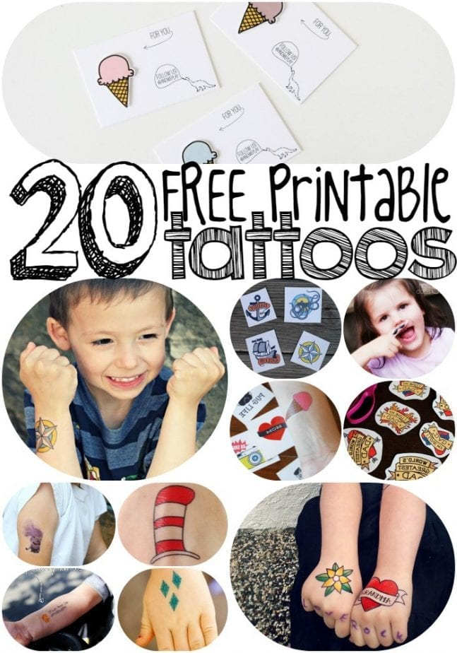photo relating to Printable Tattoos titled 20 No cost Printable Amazing-Child Momentary Tattoos