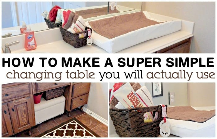 How To Make A Super Simple Changing Table
