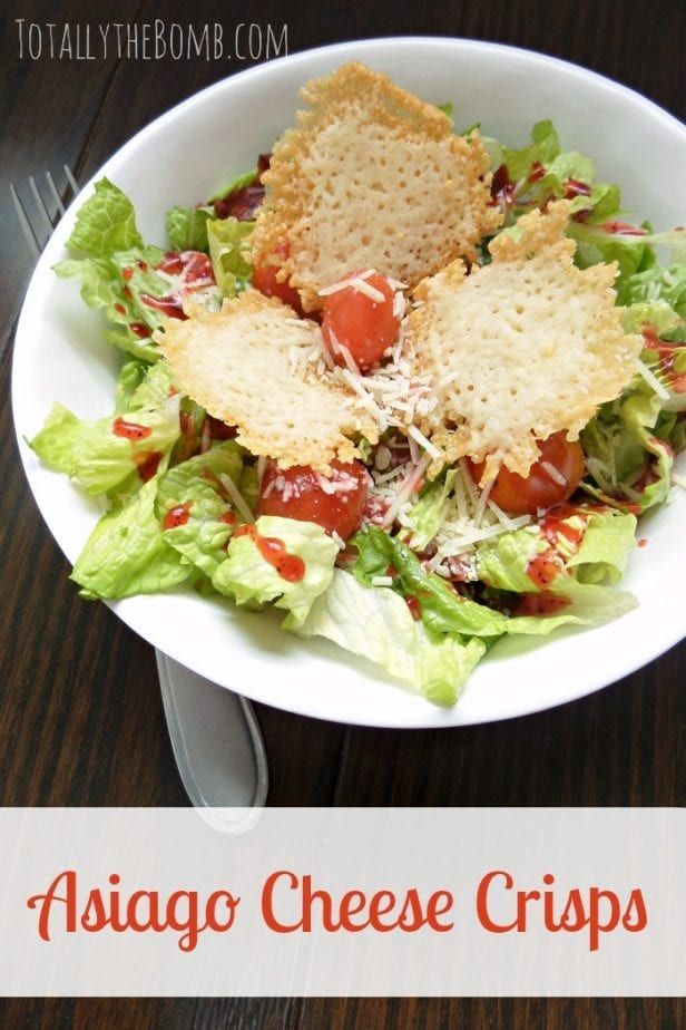 Asiago Cheese Crisps for Salad