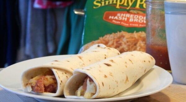 Breakfast Burrito Potato Sausage Ranch