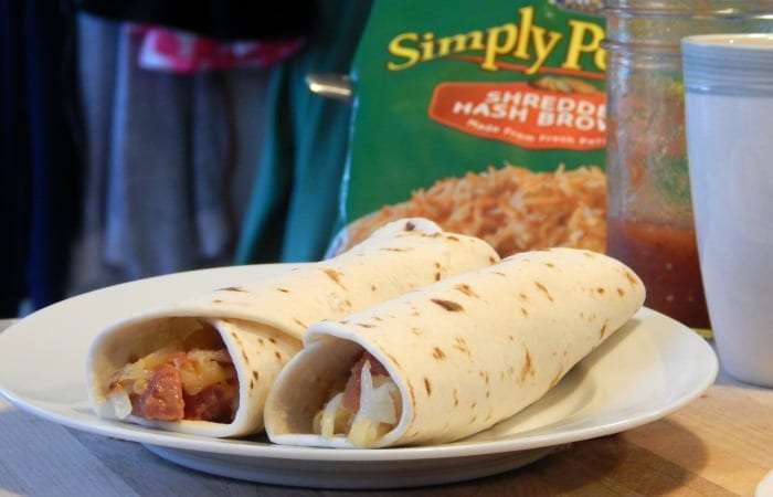Breakfast Burrito Potato Sausage Ranch