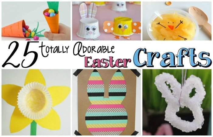 These 25 Totally Adorable Easter Crafts make Easter that much more fun! | #easter #crafts #adorable #easy #eastercrafts