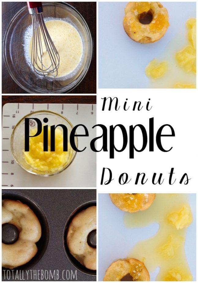 Mini Pineapple Donuts