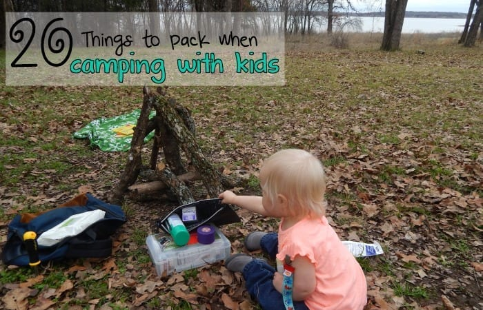 What to Pack when camping with kids feature