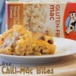 gluten free chili-mac bite snack