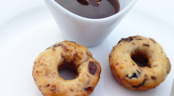 Mini Chocolate Chip Pretzel Donuts